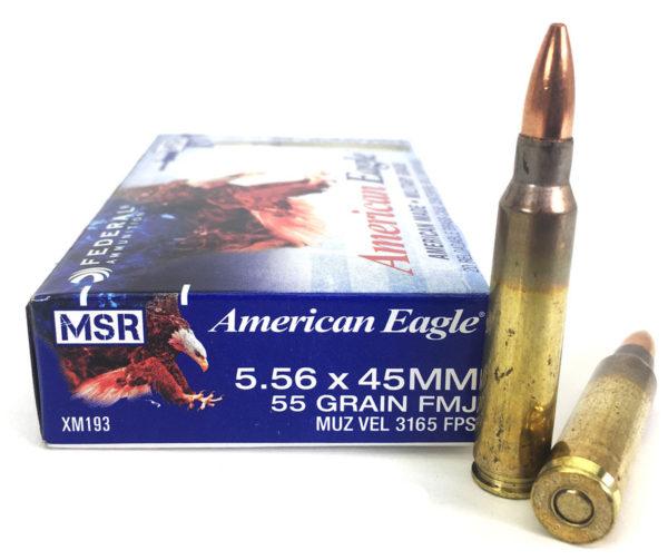 Federal Premium American Eagle FMJ 5.56mm 55-Grain Ammunition