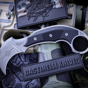 ICONIC Karambit Fixed Blade Stonewash 1 300x300 - Microtech/Bastinelli ICONIC Karambit Fixed Blade Stonewash 118-10R