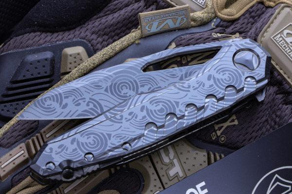"""Marfione Custom 2 600x400 - Marfione Custom Sigil MK6 Ghosted DLC """"Wave"""" Engraved M390"""
