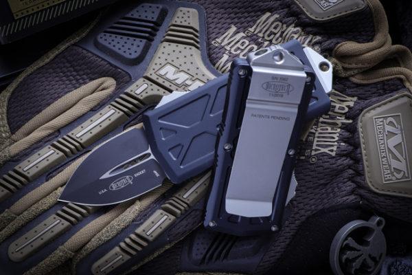 "Microtech Exocet Money Clip OTF Knife Cali Legal 4 600x400 - Microtech Dirac Delta Tan OTF Automatic Knife 3.75"" Dagger Black 227-1TA"