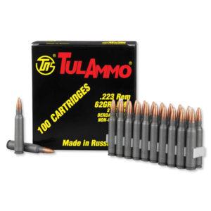 ammm 300x300 - TulAmmo .223 Remington Ammunition, 100 Rounds, Steel Case FMJ, 62 Grains