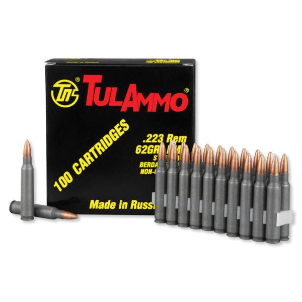 ammm 600x600 - TulAmmo .223 Remington Ammunition, 100 Rounds, Steel Case FMJ, 62 Grains