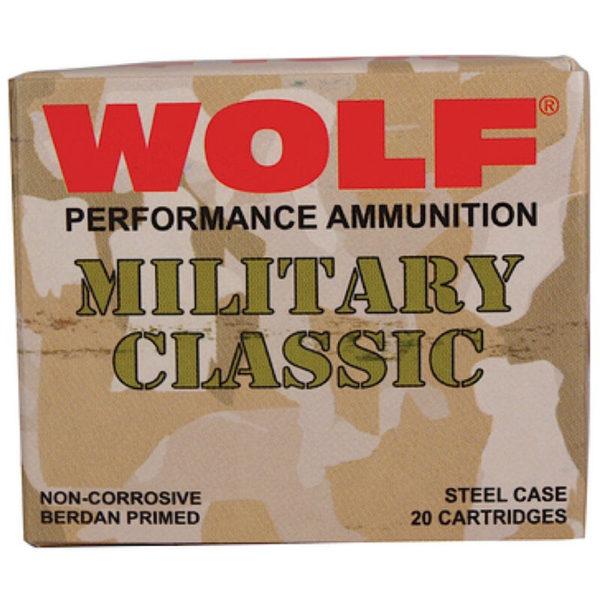 ammu3 1 600x600 - Wolf Performance Military Classic .30-06 Springfield Ammunition 20 Rounds FMJ 168 Grain