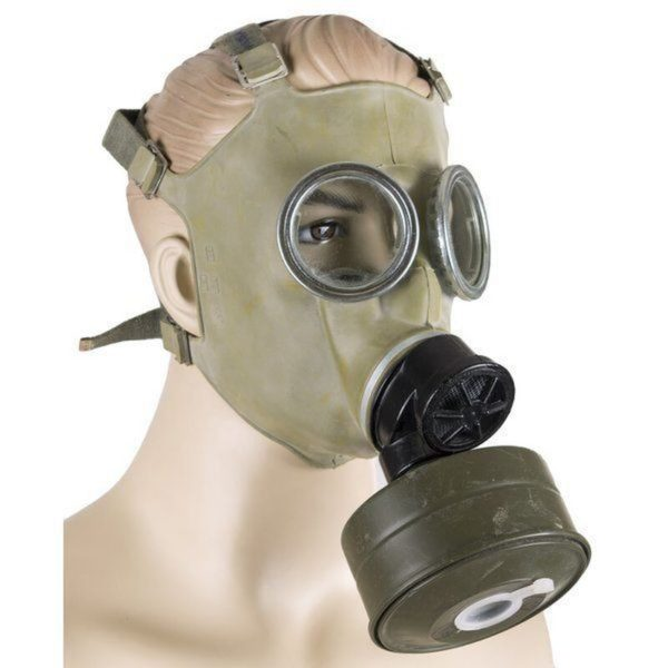 gas mask 600x600 - Polish MC-1 Gas Mask, 40mm NATO Filter, Carrying Bag Unissued Condition