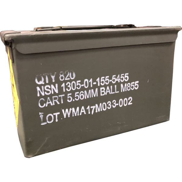 ibc 600x600 - Winchester M855 .5.56 NATO Ammunition 820 Round Ammo Can 62 Grain SS109 Pentrator Bullet