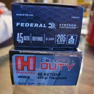duty 300x300 - .45 ACP JHP ammo for sale