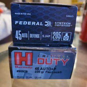 duty 300x300 - .45 ACP JHP ammo for sale