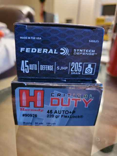 duty - .45 ACP JHP ammo for sale
