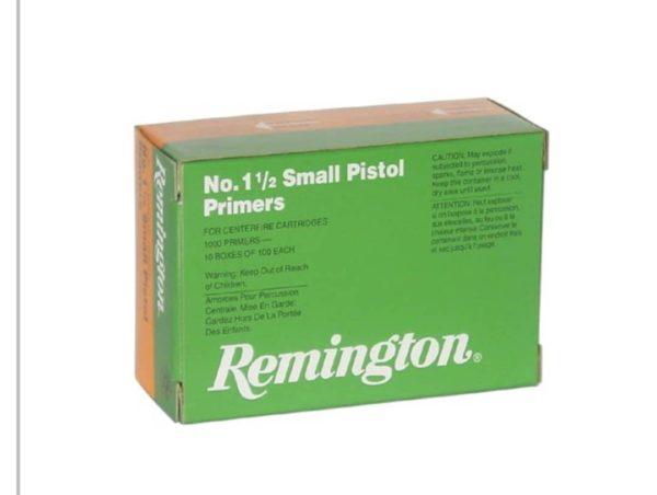 1 1 600x452 - 1 1/2 Small Pistol Primer (1000Rounds) 050-22600   Remington