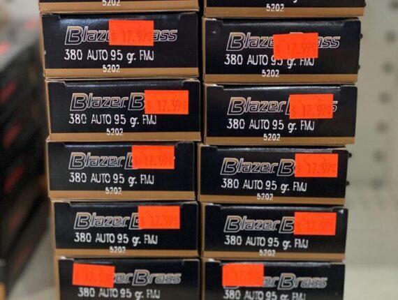 12 1 1 - 380 Auto 95gr Blazer 1000RDS