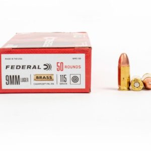 18 1 300x300 - 9mm – 115 gr FMJ – Federal Champion (WM5199) – 500 Rounds