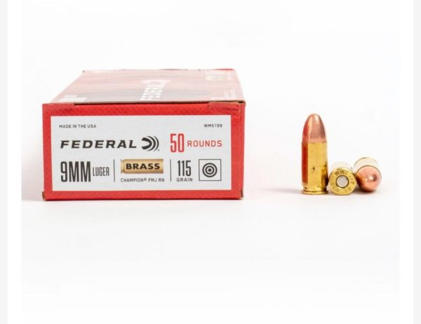 18 1 600x462 - 9mm – 115 gr FMJ – Federal Champion (WM5199) – 500 Rounds